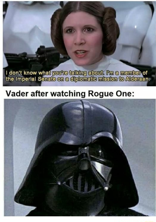 Dontt Vader after watching Rogue One meme
