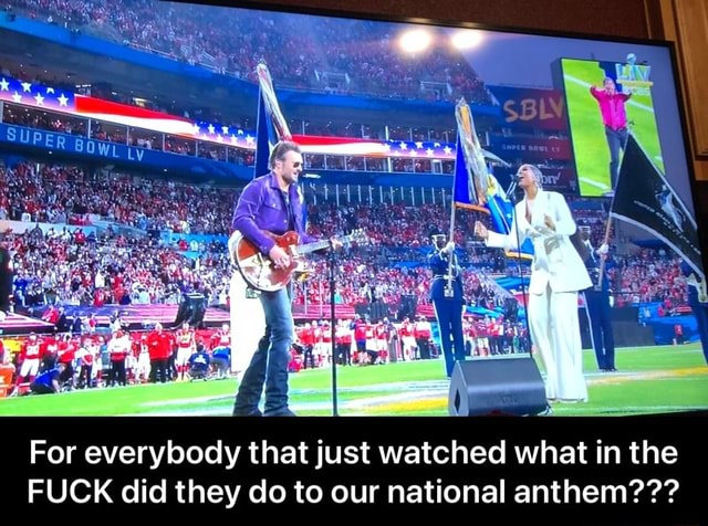 For everybody that just watched what in the FUCK did they do to our national anthem For everybody that just watched what in the FUCK did they do to our national anthem meme