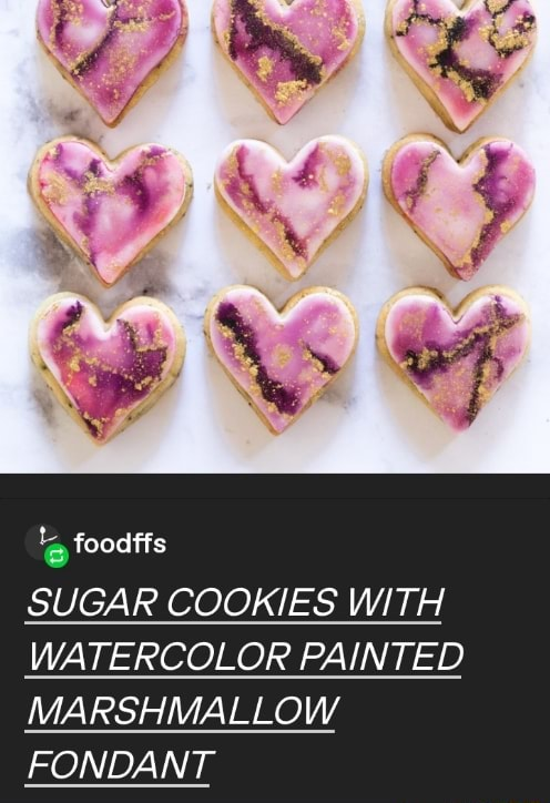 Foodffs SUGAR COOKIES WITH WATERCOLOR PAINTED MARSHMALLOW FONDANT memes