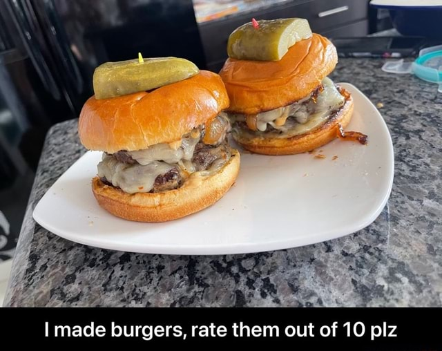 I made burgers, rate them out of 10 plz I made burgers, rate them out of 10 plz meme