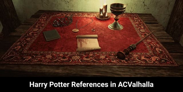 Harry Potter References in ACValhalla Harry Potter References in ACValhalla meme