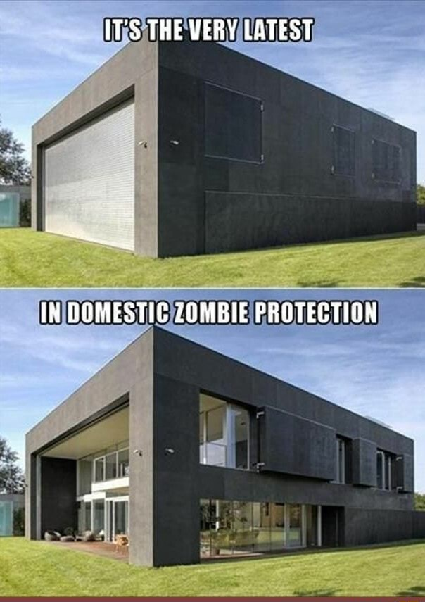 I want one  IT'S THE VERY LATEST IH DOMESTIC ZOMBIE PROTECTION meme