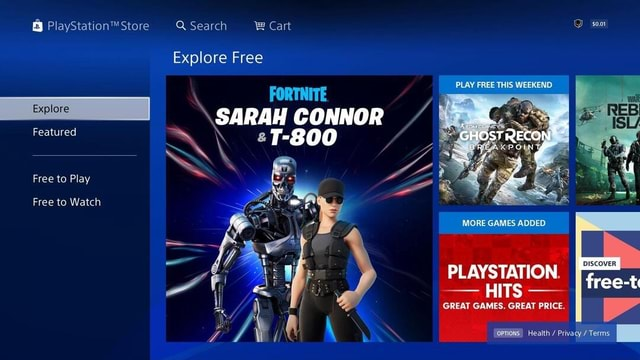 Store Q Search Cart Explore Free PLAY FREE THIS WEEKEND GHOSTRECON BREAKPOINT SARAH SARAH CONNOR Featured Free to Play Free to Watch MORE GAMES ADDED PLAYSTATION. GREAT GAMES. GREAT PRICE. Health  Privacy  Terms DISCOVER free t memes