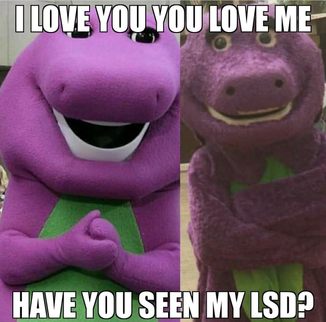 TLOVE YOU YOU LOVE ME HAVE YOU SEEN MY LSD memes