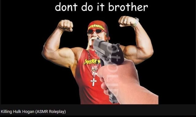 Dont do it brother Killing Hulk Hogan ASMR Roleplay memes