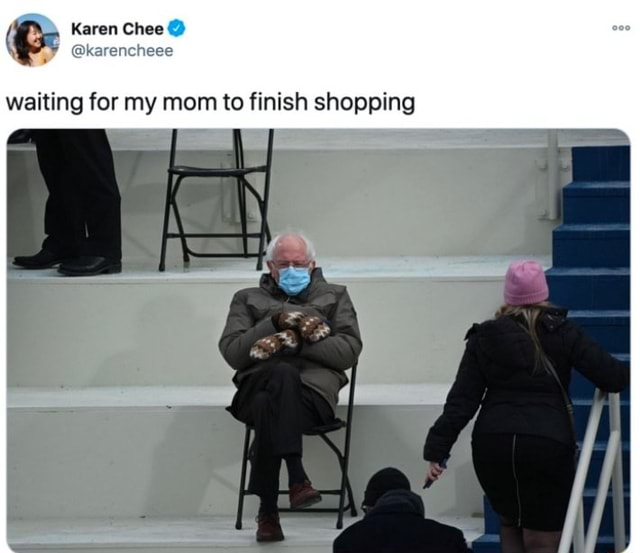 Karen Chee waiting for my mom to finish shopping memes
