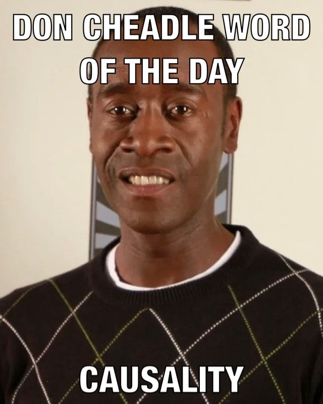 DON CHEADLE WORD OF THE DAY CAUSALITY memes