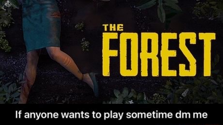FOREST If anyone wants to play sometime dm me If anyone wants to play sometime dm me meme