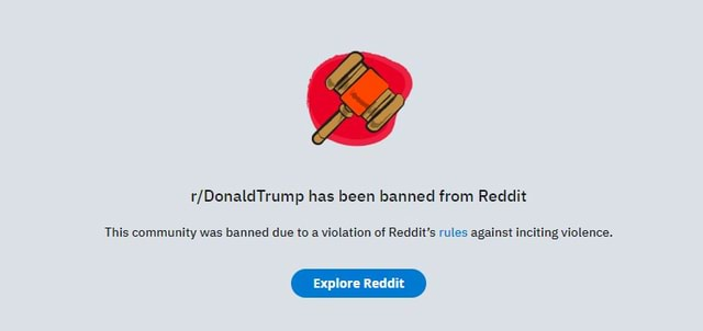 Has been banned from Reddit This community was banned due to a violation of Reddit's rules against in viotence. ing violence memes