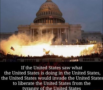 If the United States saw what the United States is doing in the United States, the United States would invade the United States to liberate the United States from the tvrannv of the United States memes