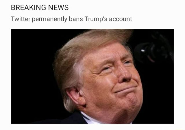 BREAKING NEWS Twitter permanently bans Trump's account memes