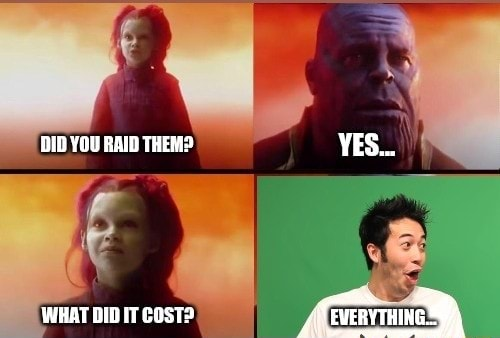 DIO YOU RAID THER YES WHAT IT CoST memes
