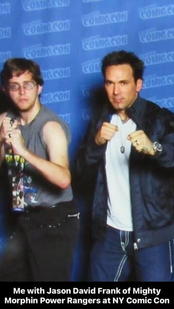 Me with Jason David Frank of Mighty Morphin Power Rangers at NY Comic Con Me with Jason David Frank of Mighty Morphin Power Rangers at NY Comic Con memes