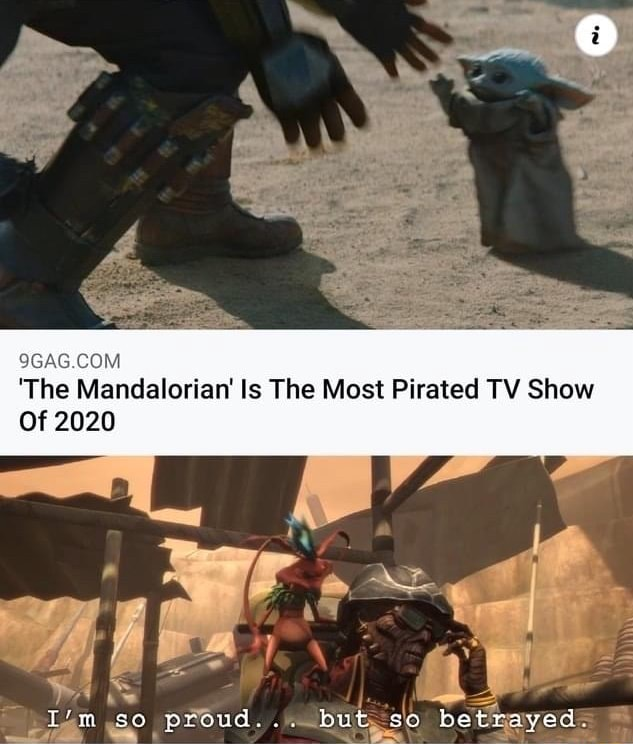 'The Mandalorian Is The Most Pirated TV Show Of bet memes