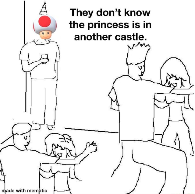 They do not know the princess is in another castle memes