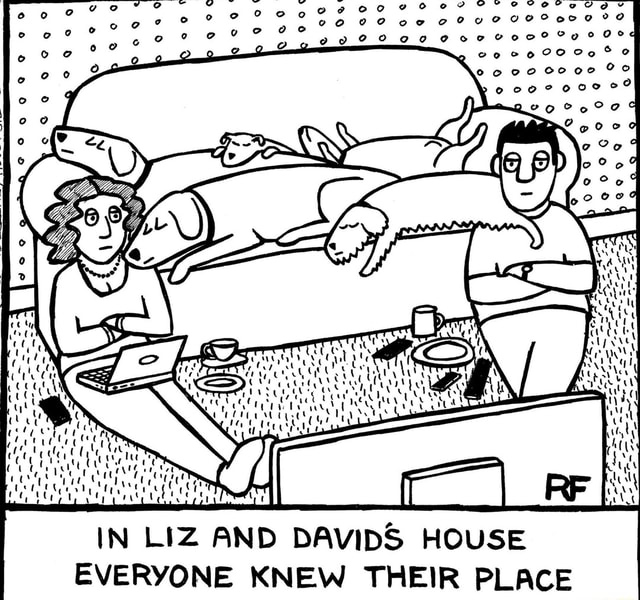 Oe IN LIZ AND DAVIDS HOUSE EVERYONE KNEW THEIR PLACE meme