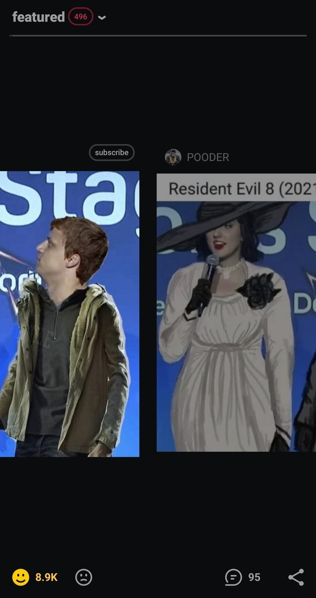 Featured subscribe POODER Resident Evil 8 202 memes