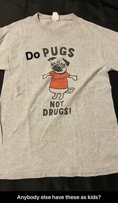 Po PUGS NOT DRUGS Anybody else have these as kids  Anybody else have these as kids meme