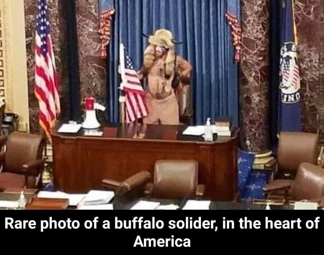 Rare photo of a buffalo solider, in the heart of America Rare photo of a buffalo solider, in the heart of America meme