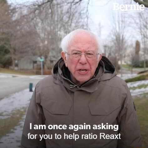 Lam once again asking for you to help ratio Reaxt memes