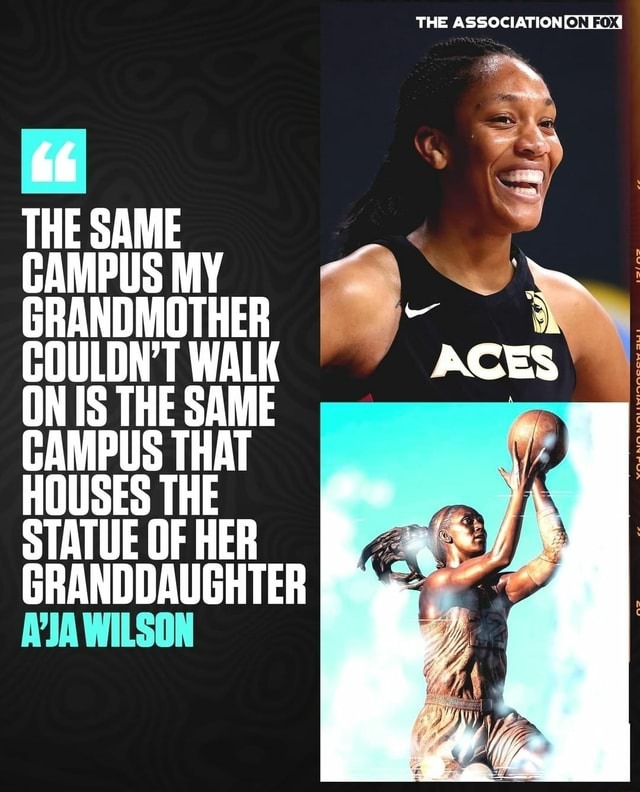 THE ASSOCIATION THE CAMPUS MY GRANDM EOULON'T ON IS THE WAK SAME ACES ON IS THE SAME STATUE OF HER GRANDDAUGHTER WILSON meme