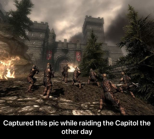 Captured this pic while raiding the Capitol the other day Captured this Captured this pic while raiding the Capitol the other day meme