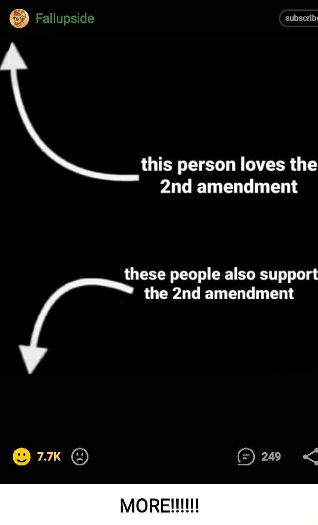 Falluoside subscribe this person loves the amendment these people also support peop pp * the amendment MORE memes