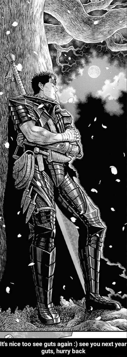 It's nice too see guts again see you next year guts, hurry back  It's nice too see guts again  see you next year guts, hurry back memes