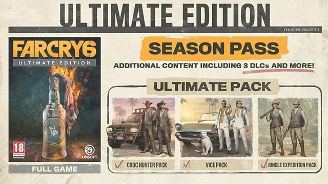 FARCRYG SEASON PASS VETIMATE EDITION ADDITIONAL CONTENT INCLUDING 3 DLCs AND MORE ULTIMATE PACK CROCHUNTERPACK pack memes