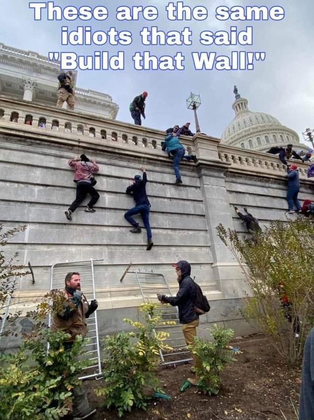 These are the same idiots that said *Build that Wall be meme
