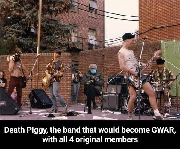Death Piggy, the band that would become GWAR, with all 4 original members Death Piggy, the band that would become GWAR, with all 4 original members memes