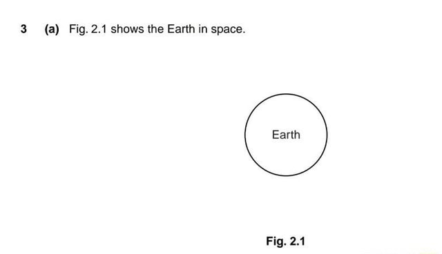 A Fig. 2.1 shows the Earth in space. Garth Fig. 2.1 meme