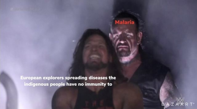 European explorers spreading diseases the indigenous people have no immunity to BAZAART memes