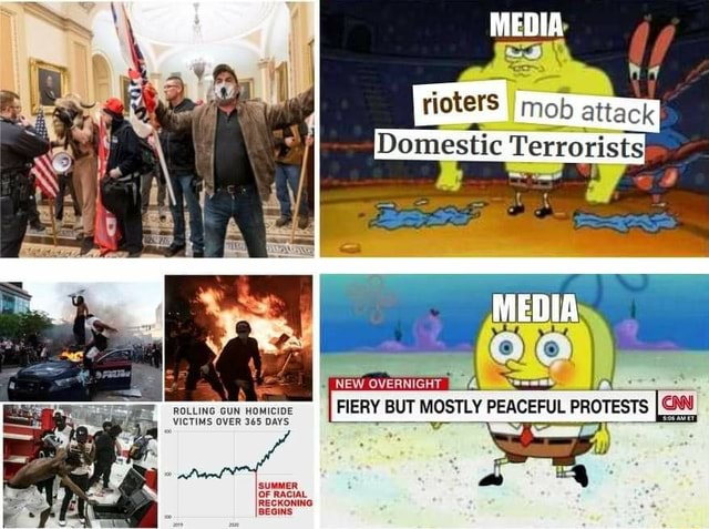 MEDIA rioters attack ROLLING VICTIMS GUN OVER HOMICIDE 365 DAYS FIERY BUT MOSTLY PEACEFUL PROTESTS CAN VICTIMS OVER 365 DAYS OF RACIAL. RECKONING meme