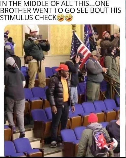 IN THE THE MIDDLE OF ALL THIS ONE BROTHER WENT TO GO SEE BOUT HIS STIMULUS CHECK memes