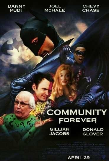DANNY JOEL CHEVY PUDI HALE CHASE, COMMUNITY FOREVER GILLIAN DONALD JACOBS GLOVER APRIL 29 memes