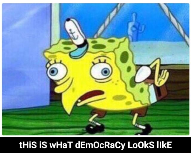 THiS iS wHaT dEmOcRaCy LoOKS IIkE tHiS iS wHaT dEmOcRaCy LoOkS lIkE meme