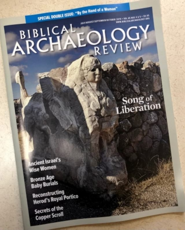 DOUBLE ISSUE py tne Hand of a Woma LOG EVIEW Liberation Son of sent israel's ce Women Bronze Age Baby Burials Reconstr ucting Herod's Royal Portico Secrets of the Copper Scroll memes