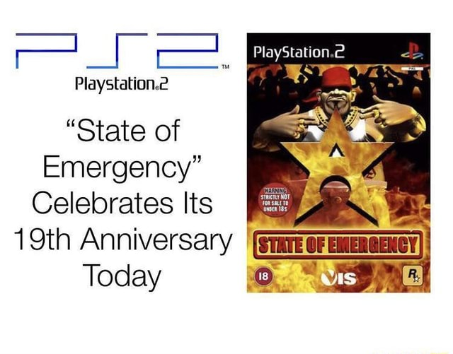 PlayStation.2 Playstation.e State of Emergency Celebrates Its 19th Anniversary Today memes
