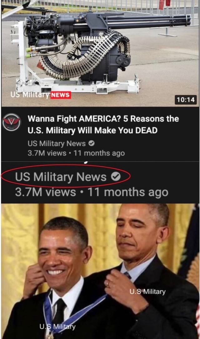 Wanna Fight AMERICA 5 Reasons the U.S. Military Will Make You DEAD US Military News  3.7M views 11 months ago US Military News  3.7M views 11 months ago ry memes