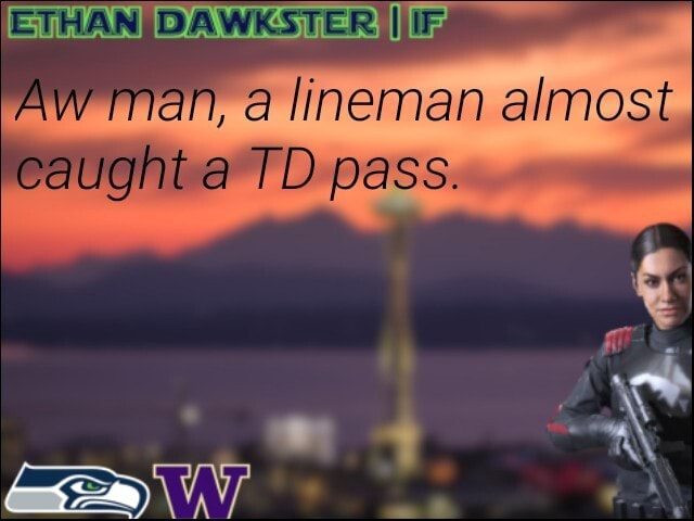 Aw man, a lineman almost caught a TD pass memes