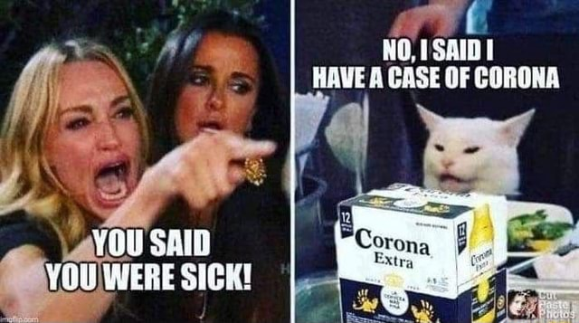 HAVE CASE CORONA YOu SAID YOU WERE SICK memes