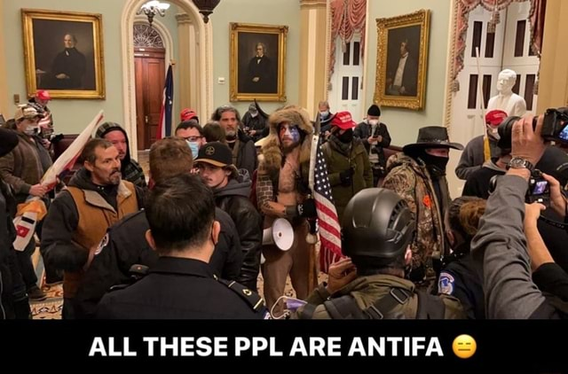 ALL THESE PPL ARE ANTIFA ALL THESE PPL ARE ANTIFA meme