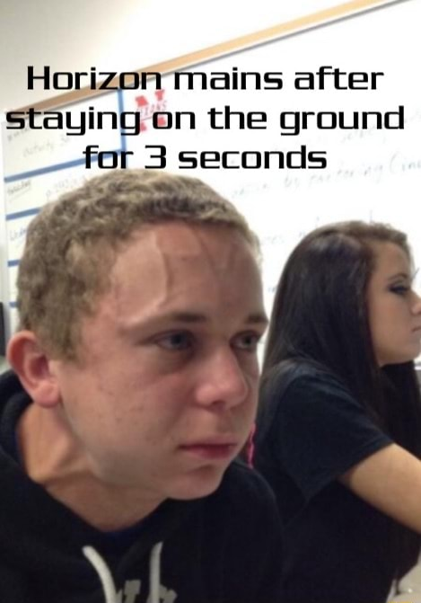 Horizon mains after staying on the ground for 3 seconds memes