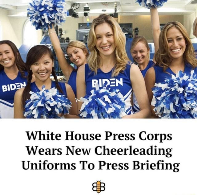 White House Press Corps Wears New Cheerleading Uniforms To Press Briefing memes