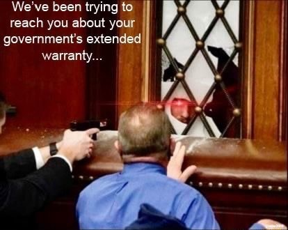 We've been trying to reach you about your government's extended warranty memes