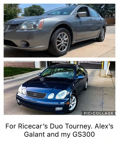 PIC*COLLAGE For Ricecar's Duo Tourney. Alex's Galant and my GS300 memes