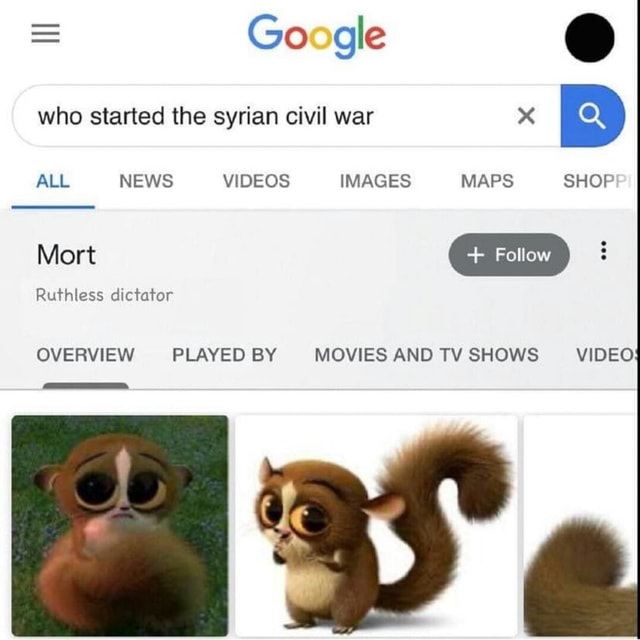 Google who started the syrian civil war x ALL NEWS IMAGES MAPS SHOP Ruthless dictator OVERVIEW PLAYED BY MOVIES AND TV SHOWS meme