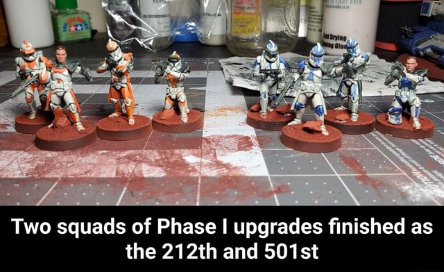 Two squads of Phase I upgrades finished as the 212th and 501st Two squads of Phase I upgrades finished as the 212th and 501st meme