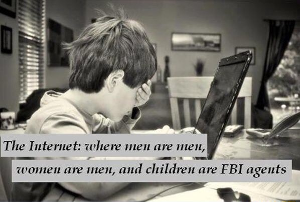 The Internet where men are mien, memes